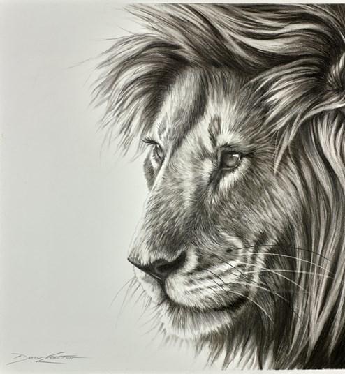 Watching by Darryn Eggleton - Original Drawing on Mounted Paper